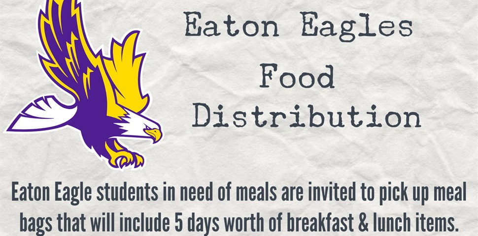 Food Distribution Flyer Thursdays from 5:00 p.m. until 7:00 p.m.