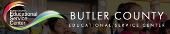 Butler County Educational Service Center Logo with students in the background
