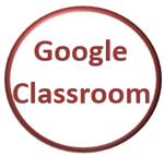 Circle with Text Google Classroom outlined in red