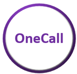 Circle outlined in Purple with OneCall in the middle